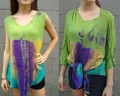Vintage Tie Dye Tank Top and Shirt