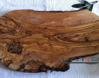2 x Olive wood wooden wood cutting board natural edge finished