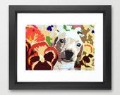 "Dachshund Pop Art Print Photography (Dog) Bright Yellow, Pansies (10"" x 7"") - Wall Art Home Decor Dachshund, Wiener Dog, Doxie, Hot Dog."