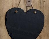 Welsh Slate Memo Board Heart