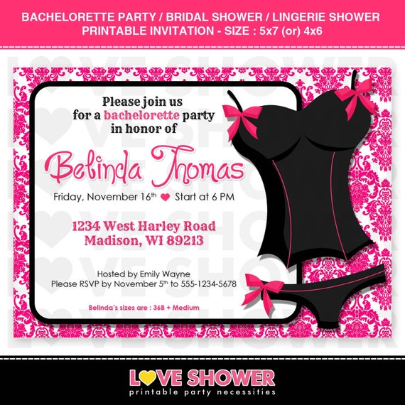 Lingerie Bridal Shower Invitations & Announcements