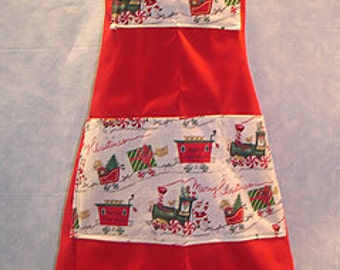 Merry Christmas Bib Apron, Boy/Girl Size