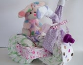 Baby Shower Gift-I'm Such a Cutie Purple Bunny-small Trike