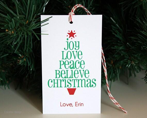 Christmas Tags Printable Personalized Christmas Tree Gift Tag