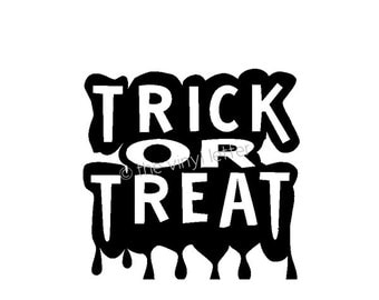 Trick Or Treat Halloween Vinyl Wall Decal