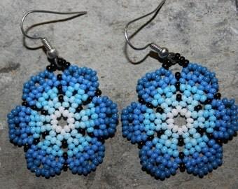 Huichol Peyote Beaded Earrings K-1