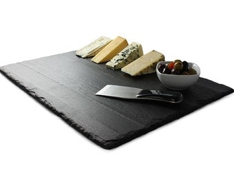 "Large Slate Cheese Board - 18"" x 12"" - with Soapstone Chalk"