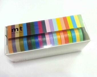 2013 summer mt washi  Masking Tape / 7mm Slim  20 colours set   / MT20P002