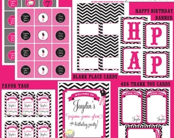 PAJAMA PARTY printable party package