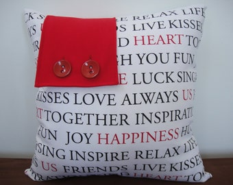 Happiness Blush Cushion Cover 45 x 45 cm
