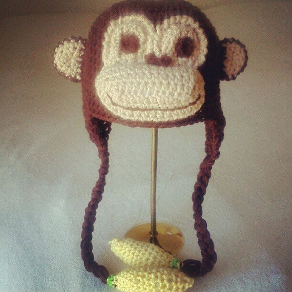 Free Crochet Patterns Monkey Hat : Crochet Monkey Hat Inspired by Curious George by HookYaUp ...