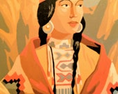 Reserved for trailblazers Native American Portrait