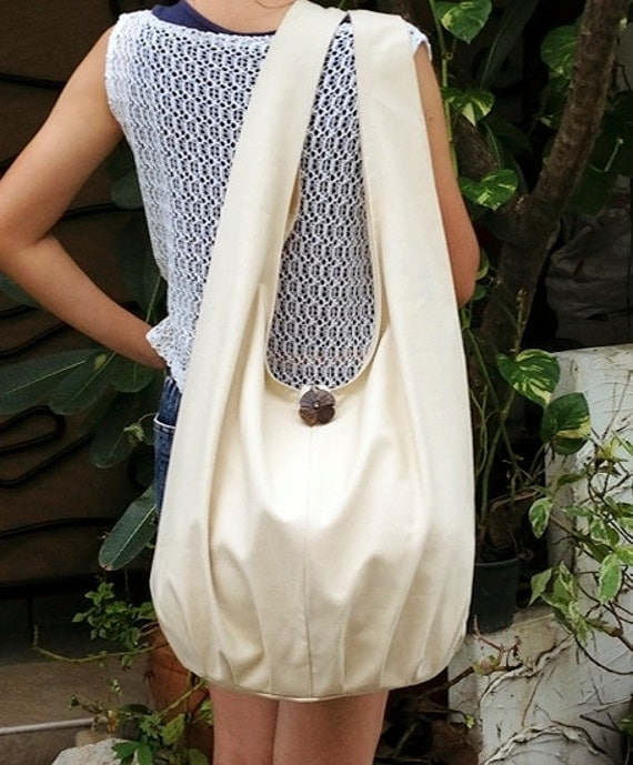 Handmade Canvas Bag Cotton bag Shoulder bag Sling bag Hobo bag