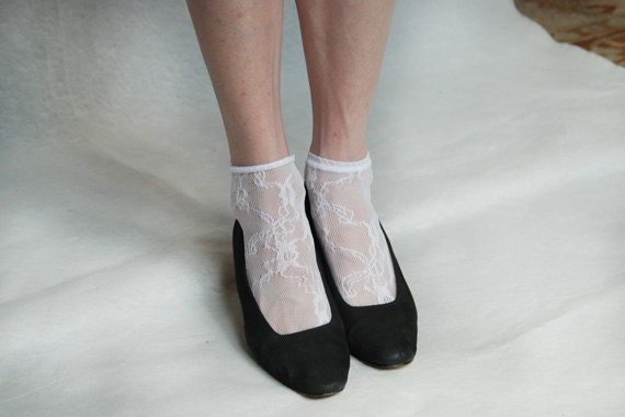 Socks lace ankle length white lace socks stockings tights