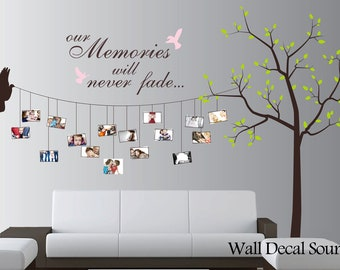Photo Tree Wall Decal - Nursery Tree Decal - Vinyl Wall Decal