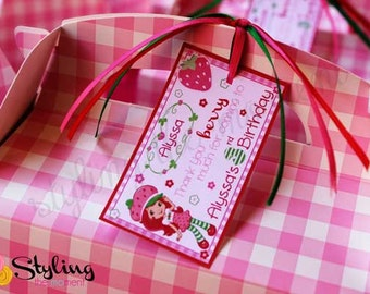 Strawberry Shortcake Gift Tags