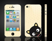 Cat -- iPhone Full Body Wrap Skin Kits iPhone Decals iPhone Stickers Vinyl Cover Case for Apple iPhone 4/ iPhone 4S