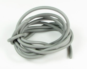 Rubber cord 5mm solid,  gray, 6 feet