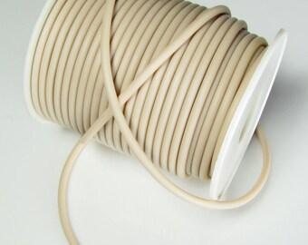 Rubber cord 3mm  tan buff, solid, 10 feet