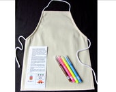 Apron DIY craft kit for kids. Childrens DIY craft set - Medium size apron