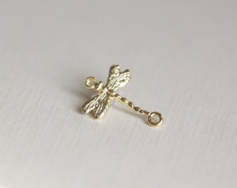 Vermeil Gold Dragonfly Connector Charm