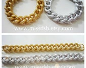 GOLD or SILVER Textured Chain Bracelet