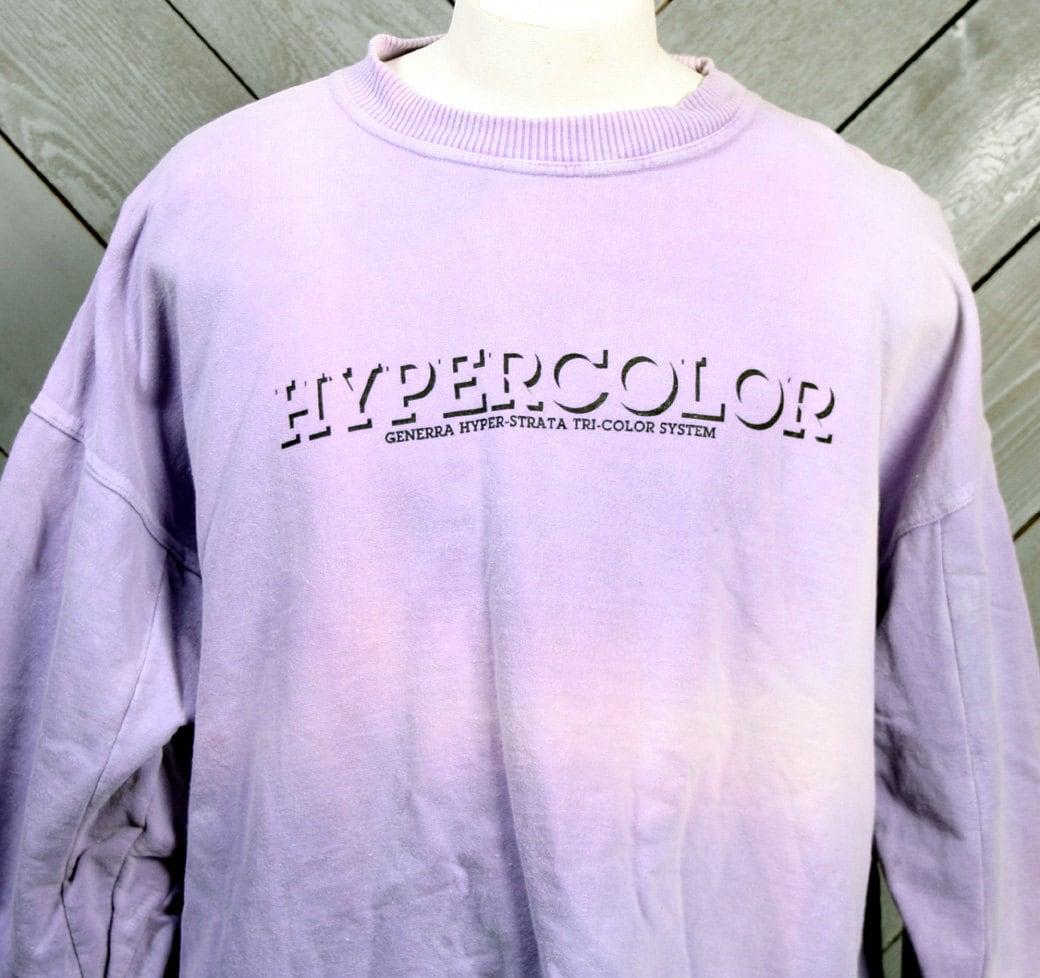 Vintage 80s Generra Hypercolor Sweatshirt Color Changing