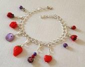 Charm Bracelet with Crochet Stitch Markers