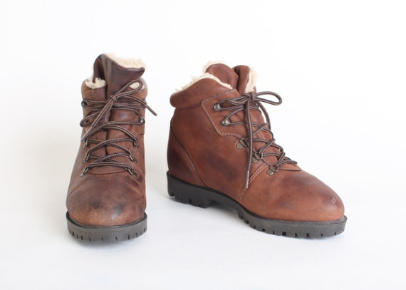 Brilliant  Shoes Womens Boots 6quot Women Hiker Boot Women Leather Brown Hiking Boot