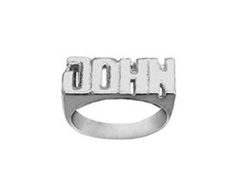 Name Ring 925 Sterling Silver Personalized Name Ring with Name of Your Choice Size 5 thru 12 Made in USA