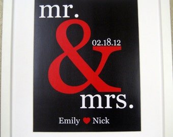 Valentine's Day Gift - Wedding Gift for Couple -Personalized Couple's Names Gift Sign -engagement gift- anniversary gift- subway sign