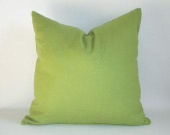 SET OF 2' - Linen Pillow 20''x20'' Cushion Cover - Decorative Pillow - Throw Pillow Single Colour Pistaghio Green