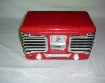 Art Deco Style AM FM CD Clock AlarmRadio
