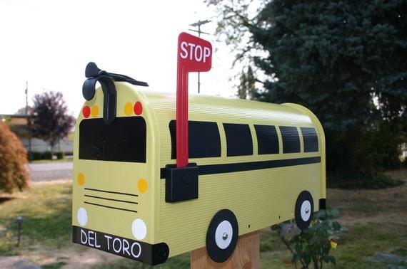 School Bus Mailbox by TheBusBox Custom  - Back to School - SchoolBusBox