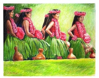 Hawaiian Hula, Hapa-Haole Hula, Hula Dancers, Island women