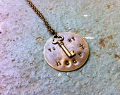 Key To My Heart Brass Pendant Necklace