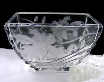 Frosted Iris Glass Bowl Vase
