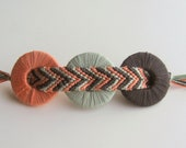 Chevron & Washer Hair Clip--Coral, Light Blue, Storm Gray