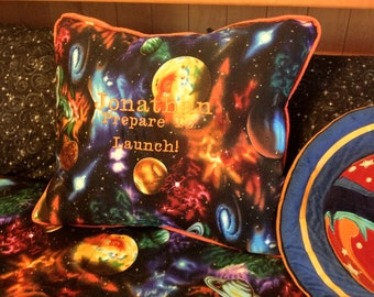 Adorable custom space bedding