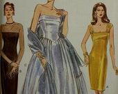 "Evening and Cocktail Party Dresses & Stole - 1990's - Vogue Pattern 9397  Uncut   Size 14-16-18  Bust 36-38-40"""