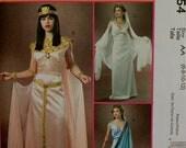 "Cleopatra, Greek & Roman Goddess McCall's Costume Pattern 4954 Uncut  Size 6-8-10-12  Bust 30.5 to 34"""