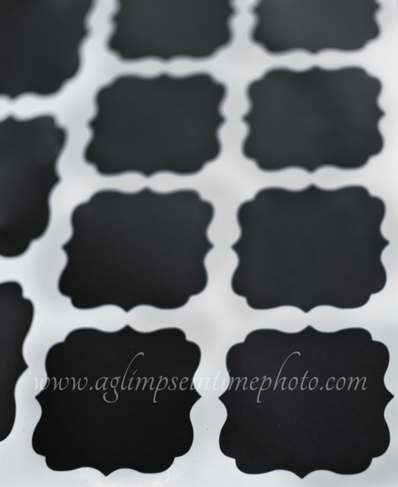 Sale 16 Chalk Board Labels 2 5in X 2 5in On Adhesive