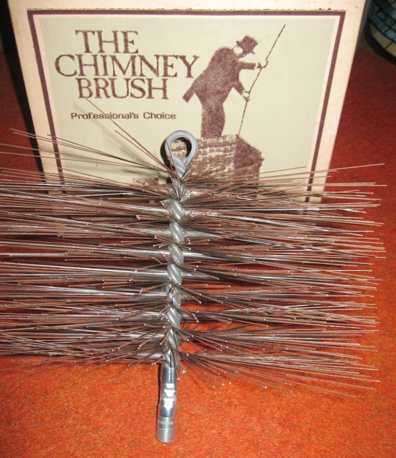 "PC-812 Sears Worcester Chimney Brush Kleen Flue Cleaning 12"" Square Wire Sweep"