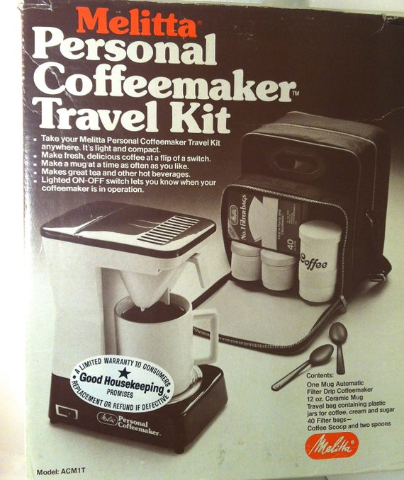 Travel Coffee Maker Kit : Melitta Coffeemaker / TRAVEL COFFEE KIT / Electric by cosabuena