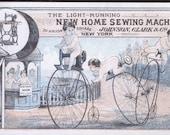 1880s Nude Cherubs On High Wheel Bike Collector Quality Victorian Trade Card