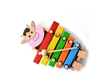 Xylophone, wooden toys, toddler gift, christmas gift for kids, learning toy, educational toy, kids toy,  wood toy, wooden animal, baby toy,