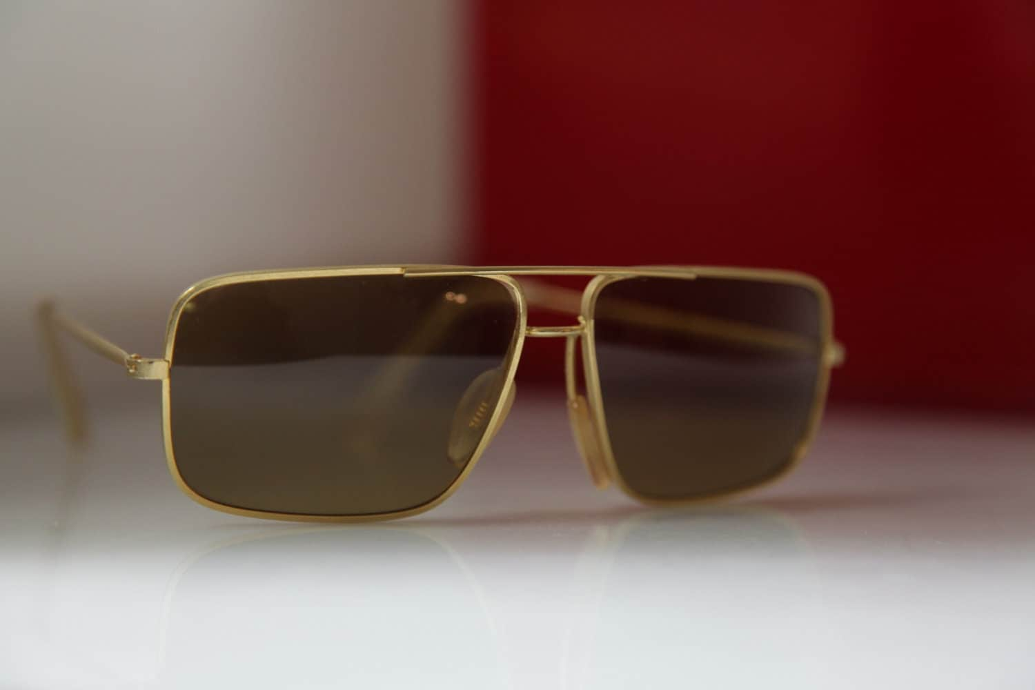 Gold Frame Vintage Glasses : Vintage Polaroid Gold Frame Sunglasses Tortoise Frame Golden