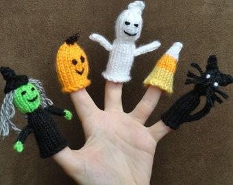 Finger Puppets - Halloween Finger Puppets - Handmade puppets