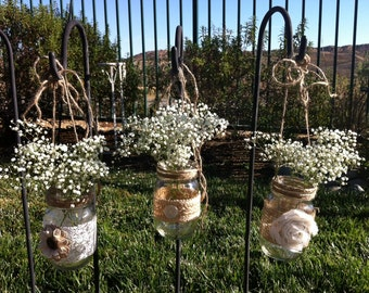 Mason Jars Cand Le Holders For Wedding And Cottage Decor Rustic Farm