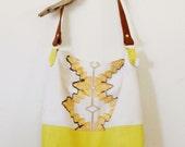 Yellow Leather Toot Toot Hobo Bag